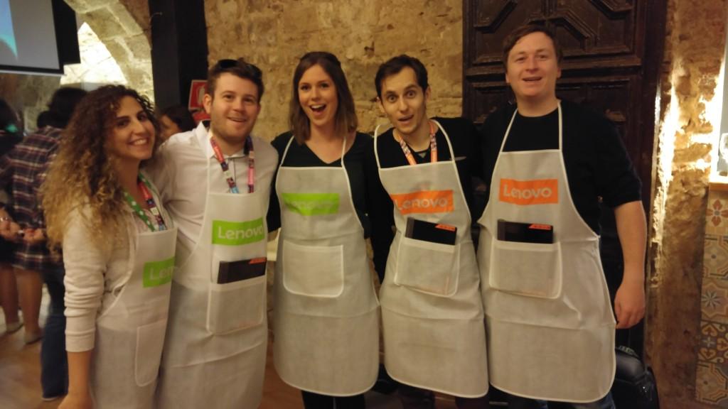 Kochen mit den Lenovo Champions ⒸLenovo/Chloe Jones