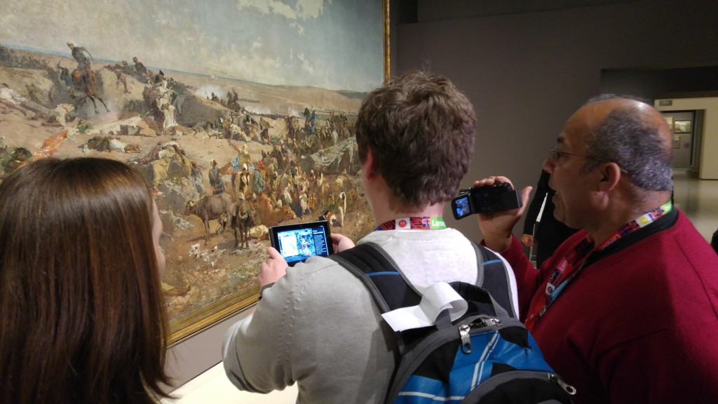 Ich Teste Project Tango im Museo Nationale del'arte ⒸLenovo/Chloe Jones