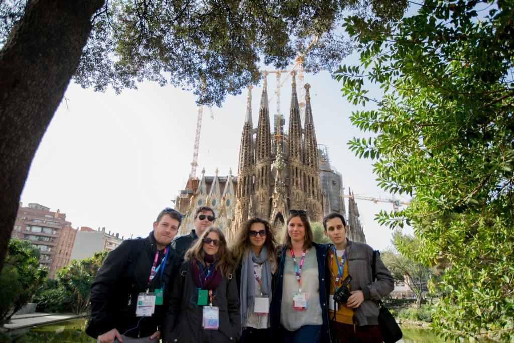 Die Lenovo Champions vor der Sagrada Famila ⒸRichard Deutsch